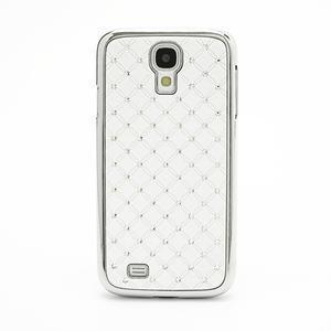 Drahokamové pouzdro pro Samsung Galaxy S4 i9500- bílé - 2