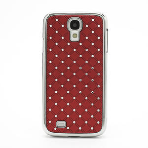 Drahokamové pouzdro pro Samsung Galaxy S4 i9500- červené - 2
