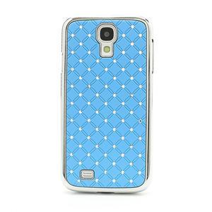 Drahokamové pouzdro pro Samsung Galaxy S4 i9500- světle-modré - 2
