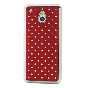 Drahokamové pouzdro pro HTC one Mini M4- červené - 2