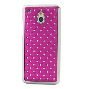 Drahokamové pouzdro pro HTC one Mini M4- růžové - 2