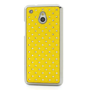 Drahokamové pouzdro pro HTC one Mini M4- žluté - 2