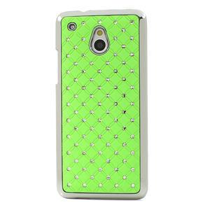 Drahokamové pouzdro pro HTC one Mini M4- zelené - 2