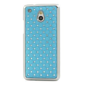Drahokamové pouzdro pro HTC one Mini M4- světlemodré - 2