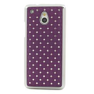 Drahokamové pouzdro pro HTC one Mini M4- fialové - 2