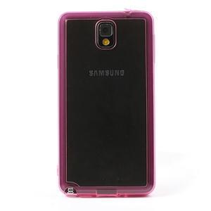 Gelové hybrid pouzdro na Samsung Galaxy Note 3- růžové - 2