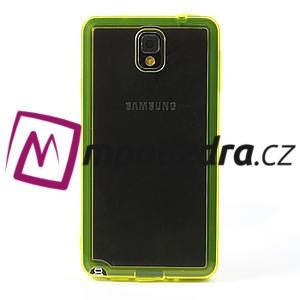 Gelové hybrid pouzdro na Samsung Galaxy Note 3- žluté - 2