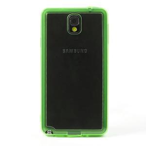 Gelové hybrid pouzdro na Samsung Galaxy Note 3- zelené - 2