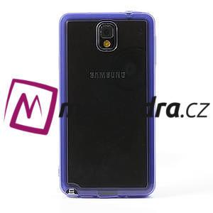 Gelové hybrid pouzdro na Samsung Galaxy Note 3- fialové - 2