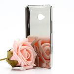 Drahokamové pouzdro pro HTC one M7- bílé - 2/7