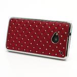Drahokamové pouzdro pro HTC one M7- červené - 2/7