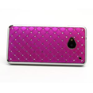 Drahokamové pouzdro pro HTC one M7- růžové - 2