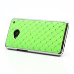 Drahokamové pouzdro pro HTC one M7- zelené - 2/7