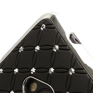Drahokamové pouzdro pro HTC one M7- černé - 2