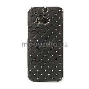 Drahokamové pouzdro pro HTC one M8- černé - 2