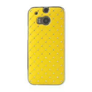 Drahokamové pouzdro pro HTC one M8- žluté - 2