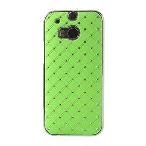 Drahokamové pouzdro pro HTC one M8- zelené - 2