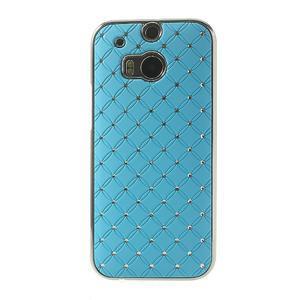 Drahokamové pouzdro pro HTC one M8- světlemodré - 2