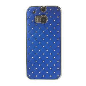 Drahokamové pouzdro pro HTC one M8- modré - 2