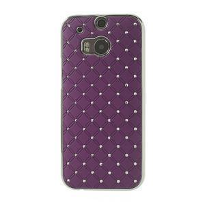 Drahokamové pouzdro pro HTC one M8- fialové - 2
