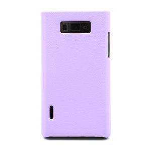 Texturované pouzdro pro LG Optimus L7 P700- fialové - 2