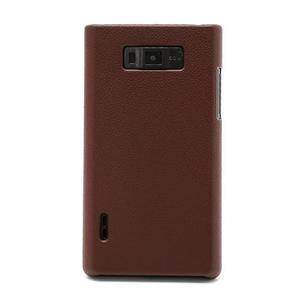 Texturované  pouzdro pro LG Optimus L7 P700- hnědé - 2