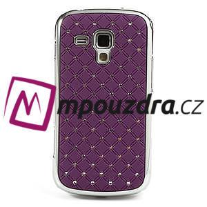 Drahokamové pouzdro pro Samsung Trend plus, S duos- fialové - 2