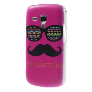 Plastové pouzdro na Samsung Trend plus, S duos - růžové kníraté - 2