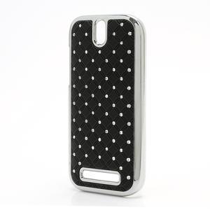 Drahokamové pouzdro pro HTC One SV- černé - 2
