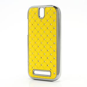 Drahokamové pouzdro pro HTC One SV- žluté - 2