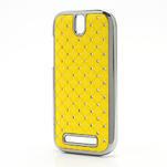 Drahokamové pouzdro pro HTC One SV- žluté - 2/5