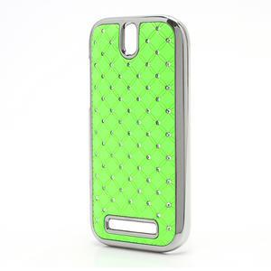 Drahokamové pouzdro pro HTC One SV- zelené - 2