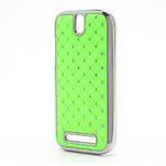 Drahokamové pouzdro pro HTC One SV- zelené - 2/5