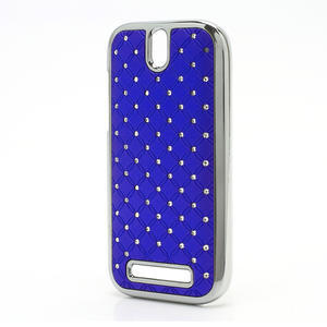 Drahokamové pouzdro pro HTC One SV- modré - 2