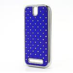 Drahokamové pouzdro pro HTC One SV- modré - 2/5