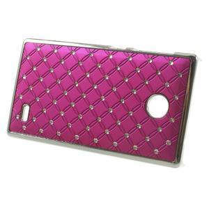 Drahokamové pouzdro na Nokia X dual- růžové - 2