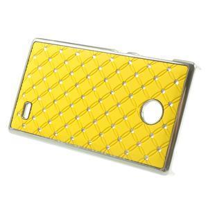 Drahokamové pouzdro na Nokia X dual- žluté - 2