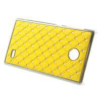 Drahokamové pouzdro na Nokia X dual- žluté - 2/5