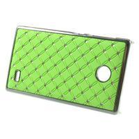 Drahokamové pouzdro na Nokia X dual- zelené - 2/5