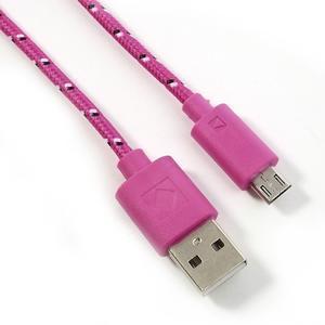 Tkaný odolný micro USB kabel s délkou 2m - rose - 2