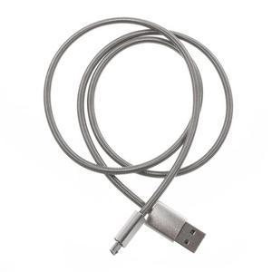 Kovový nabíjecí/propojovací micro USB kabel o délce 1 m - 2