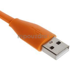 Propojovací micro USB kabel - délka 1 m, oranžový - 2