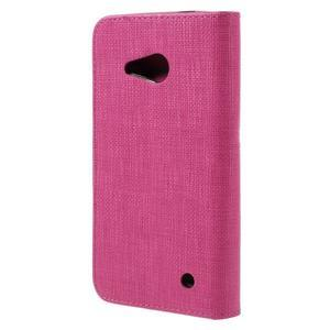 Cloth PU kožené pouzdro na mobil Microsoft Lumia 550 - rose - 2