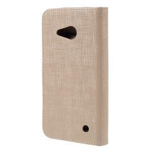 Cloth PU kožené pouzdro na mobil Microsoft Lumia 550 - champagne - 2