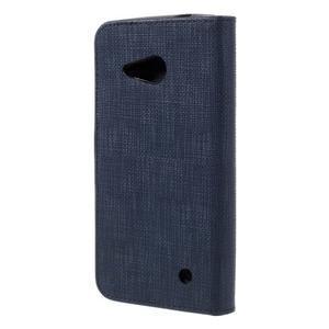 Cloth PU kožené pouzdro na mobil Microsoft Lumia 550 - tmavěmodré - 2