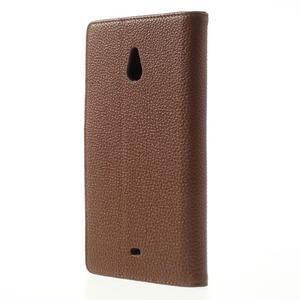 Peněženkové pouzdro pro Nokia Lumia 1320- hnědé - 2