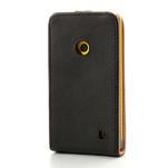 Flipové černé pouzdro na Nokia Lumia 520 - 2/7