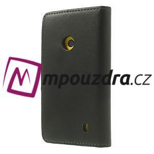 Peněženkové pouzdro na Nokia Lumia 520 - černé - 2