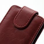 Flipové pouzdro na Nokia Lumia 620- červené - 2/5