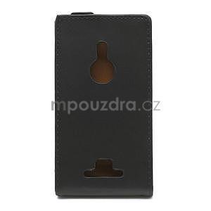 Flipové černé pouzdro pro Nokia Lumia 925 - 2